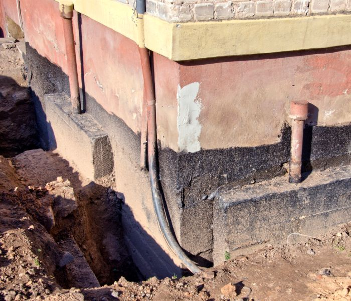 foundation repair services being provided in shreveport